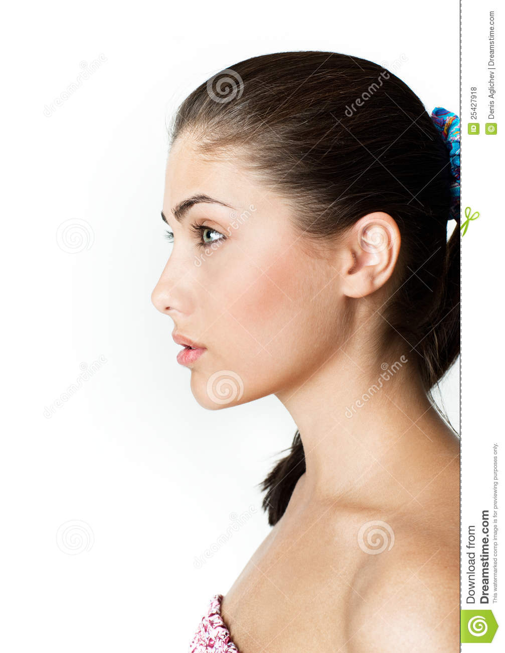 Royalty Free Stock Photos Girl In Profile Image 25427918