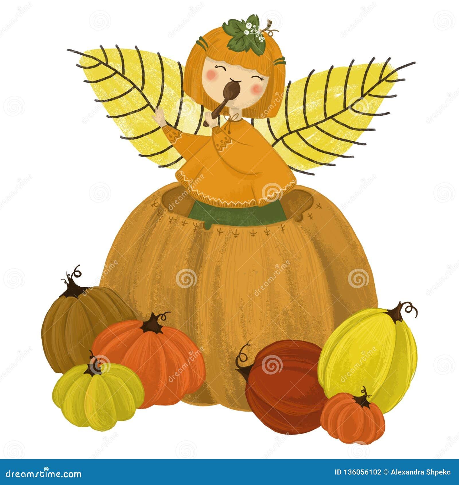 Girl in pumpkin