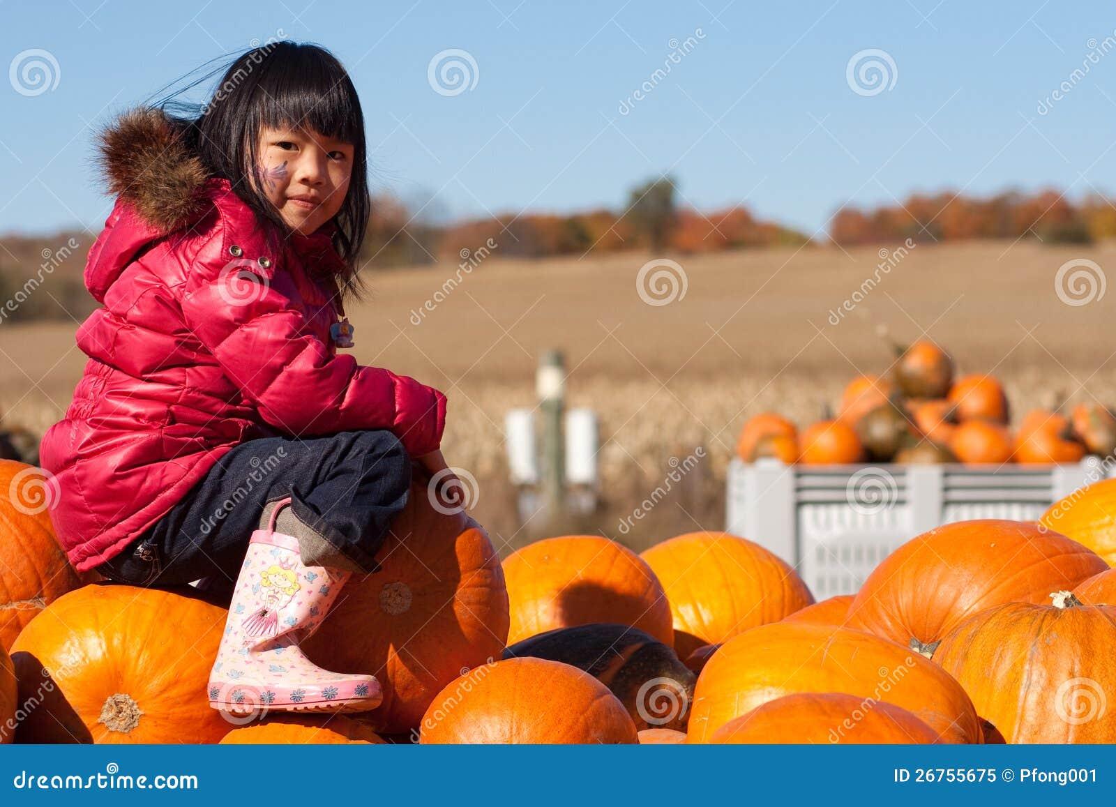 Girl Pumpkin Patch