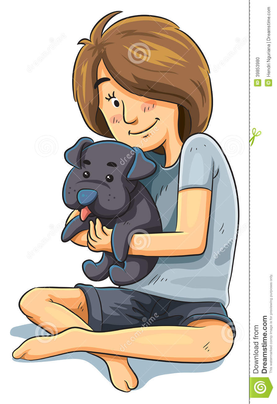 girl with puppy shower clipart shower clip art free