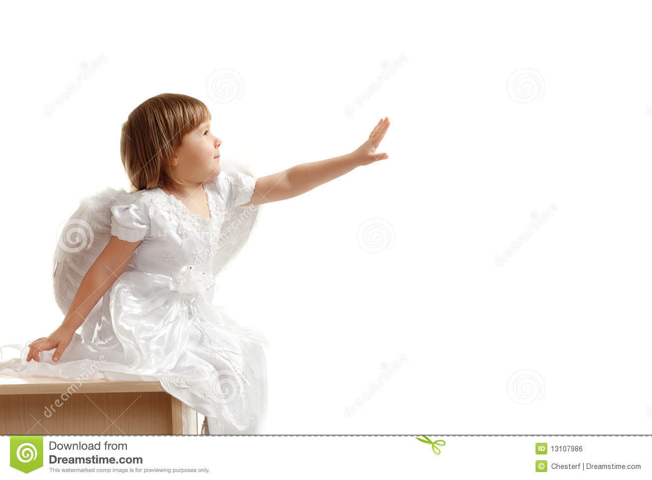 Girl Reach Out Her Hand Royalty Free Stock Image