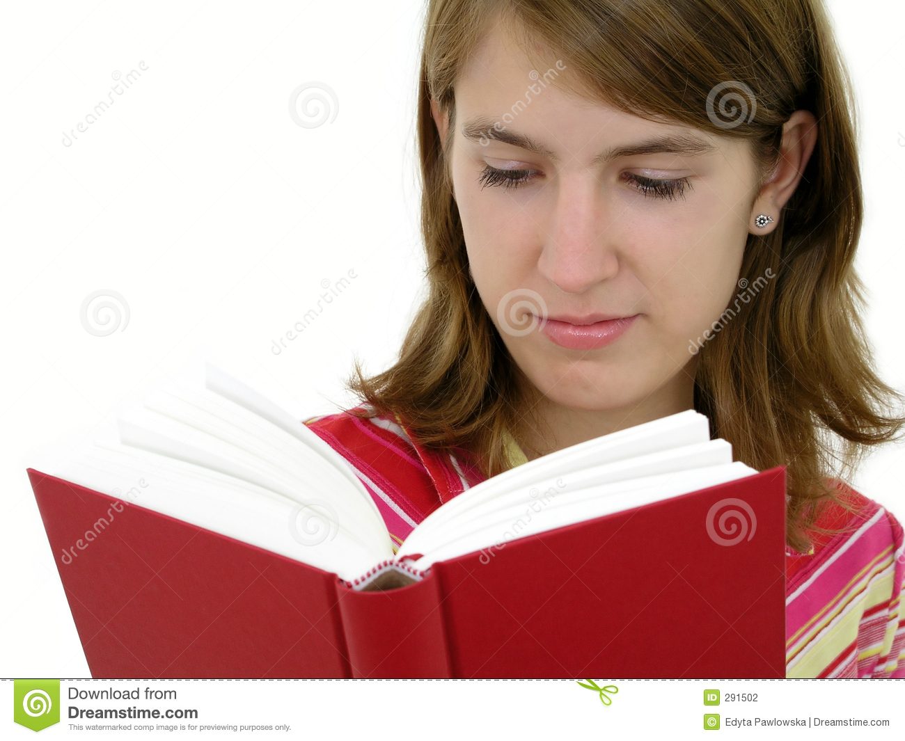 reading book stock Girl