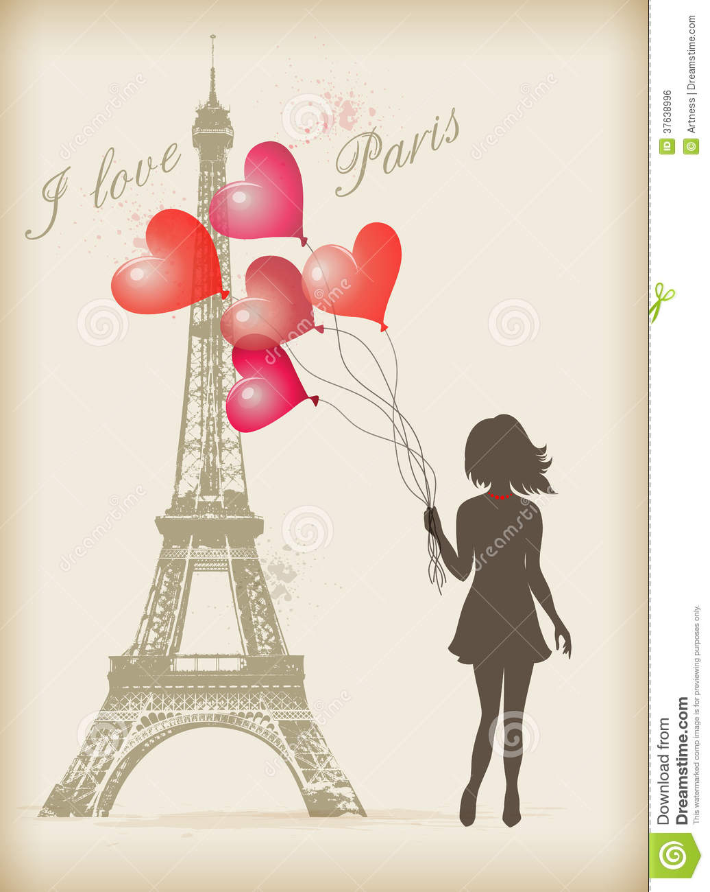 Girl with red balloons royalty free stock image image 37638996