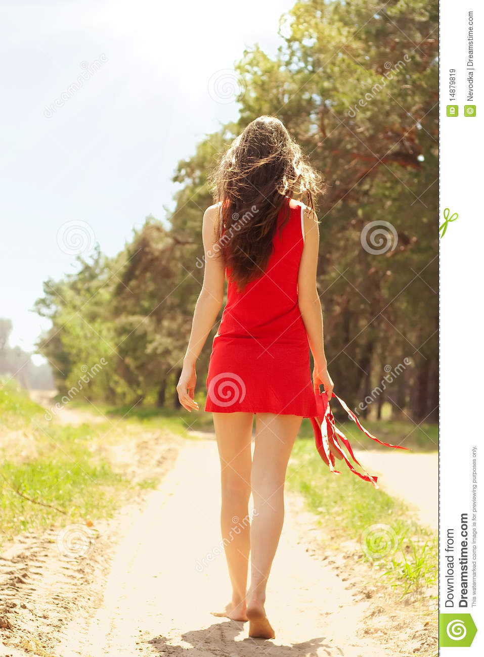 Girl In Red Dress Royalty Free Stock Images - Image: 14879819