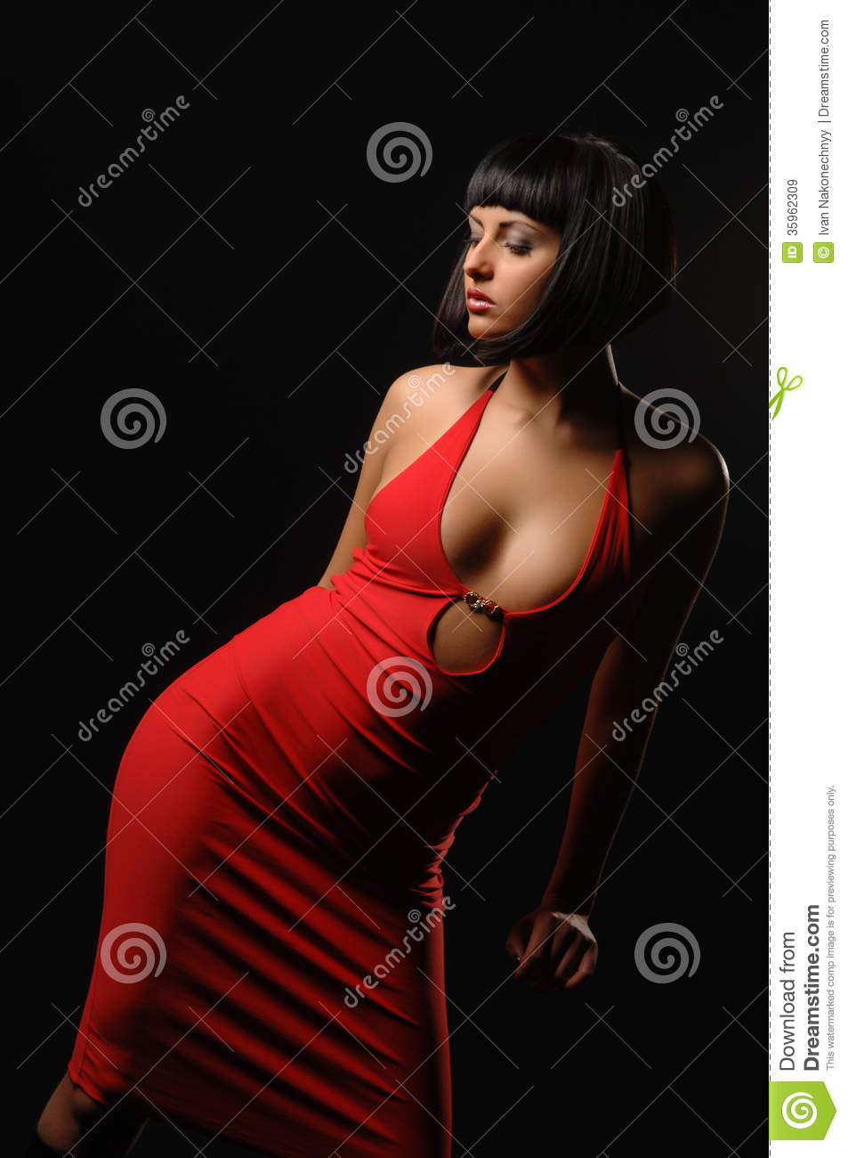 Girl In Red Dress Royalty Free Stock Images - Image: 35962309