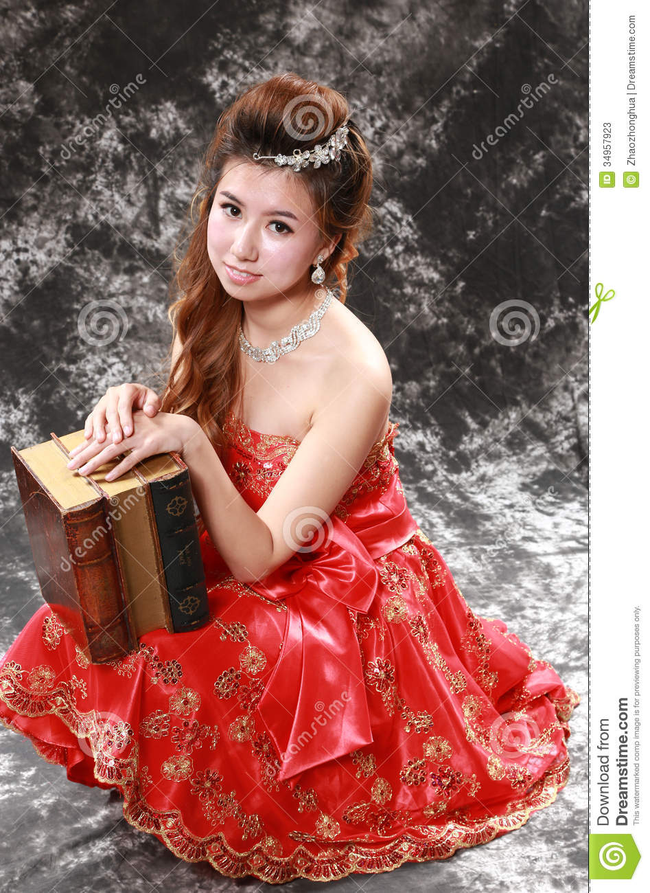 Girl In Red Dress Stock Photos - Image: 34957923