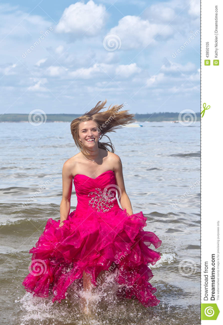 girl in red prom dress stock image image of focus girl