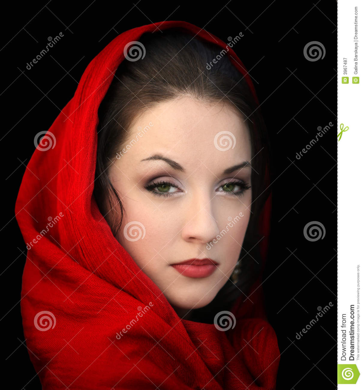 Speaking, opinion, the girl in the red scarf
