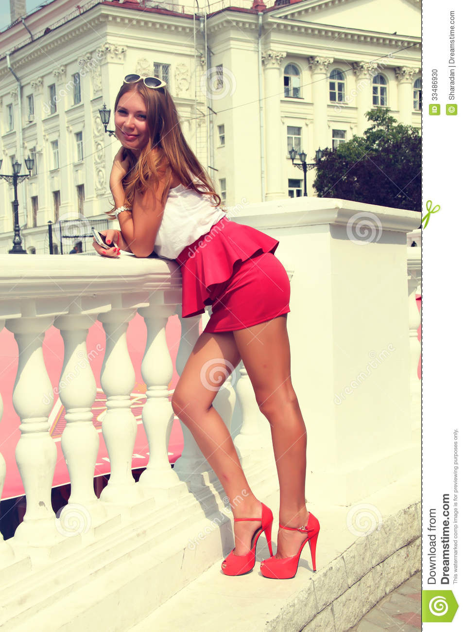 The Girl In The Red Shoes Stock Photo - Image: 33486930
