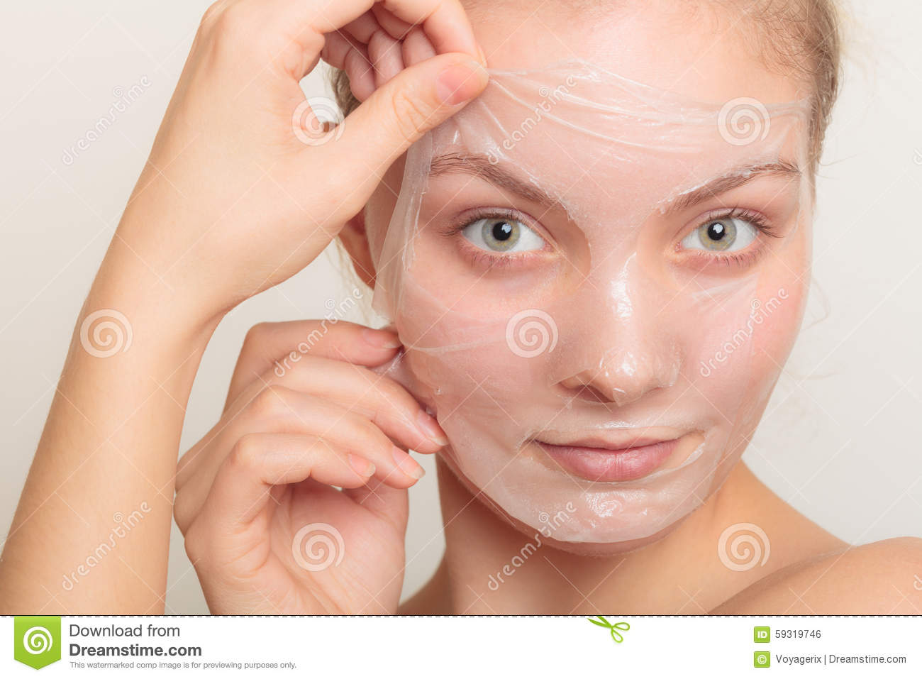 how to peel off mask