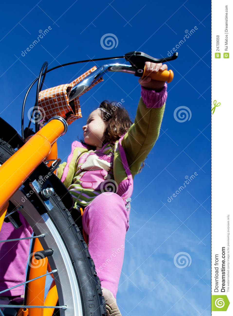 Bicycle Girl Royalty-Free Stock Image