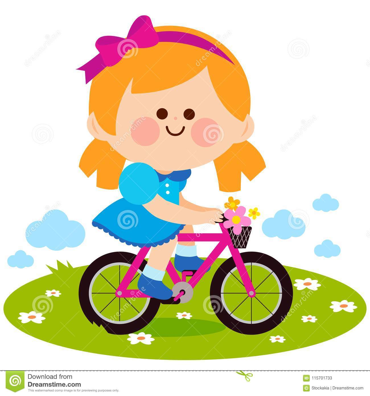Girl riding a bicycle at the park
