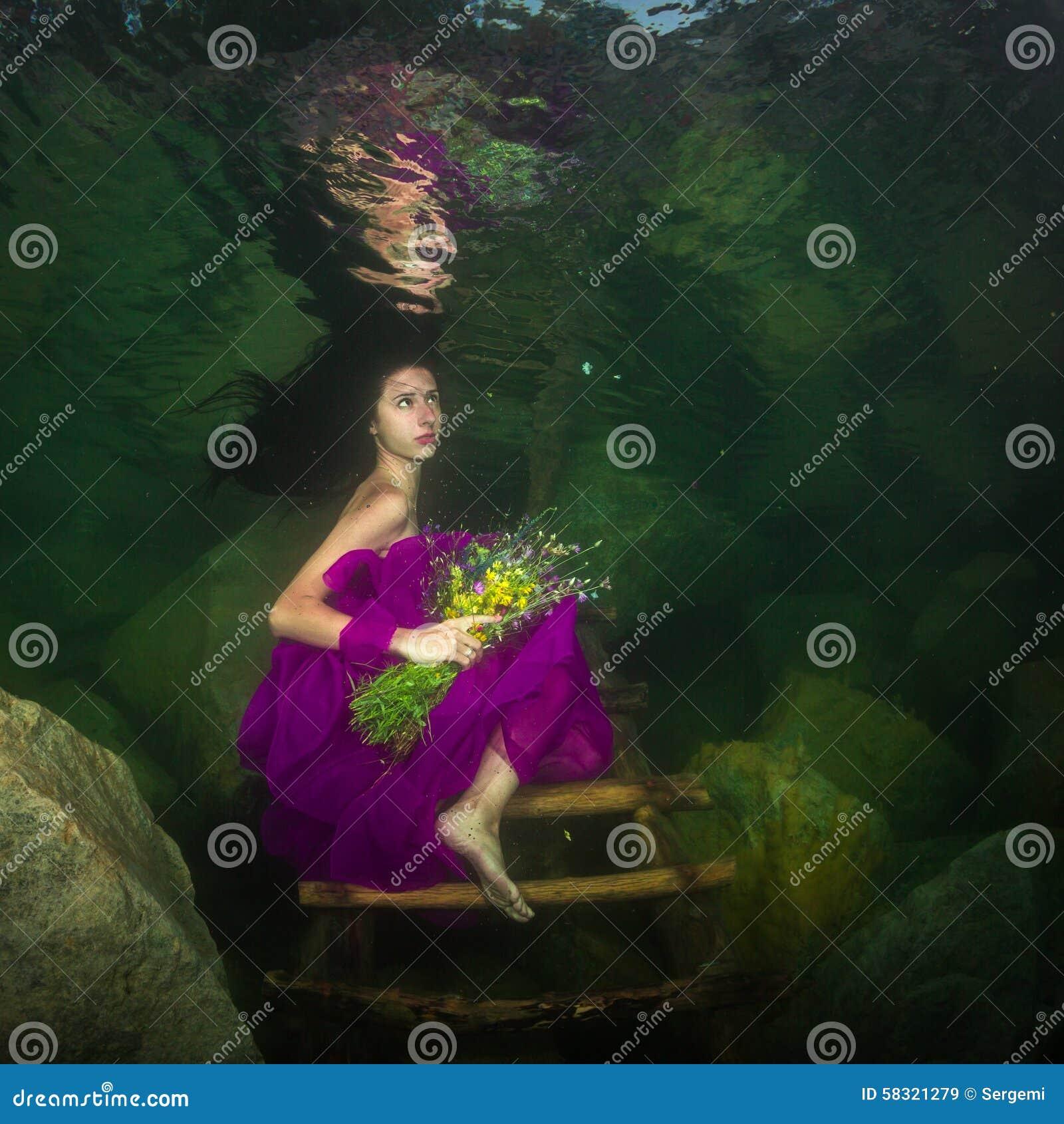 Girl in a river