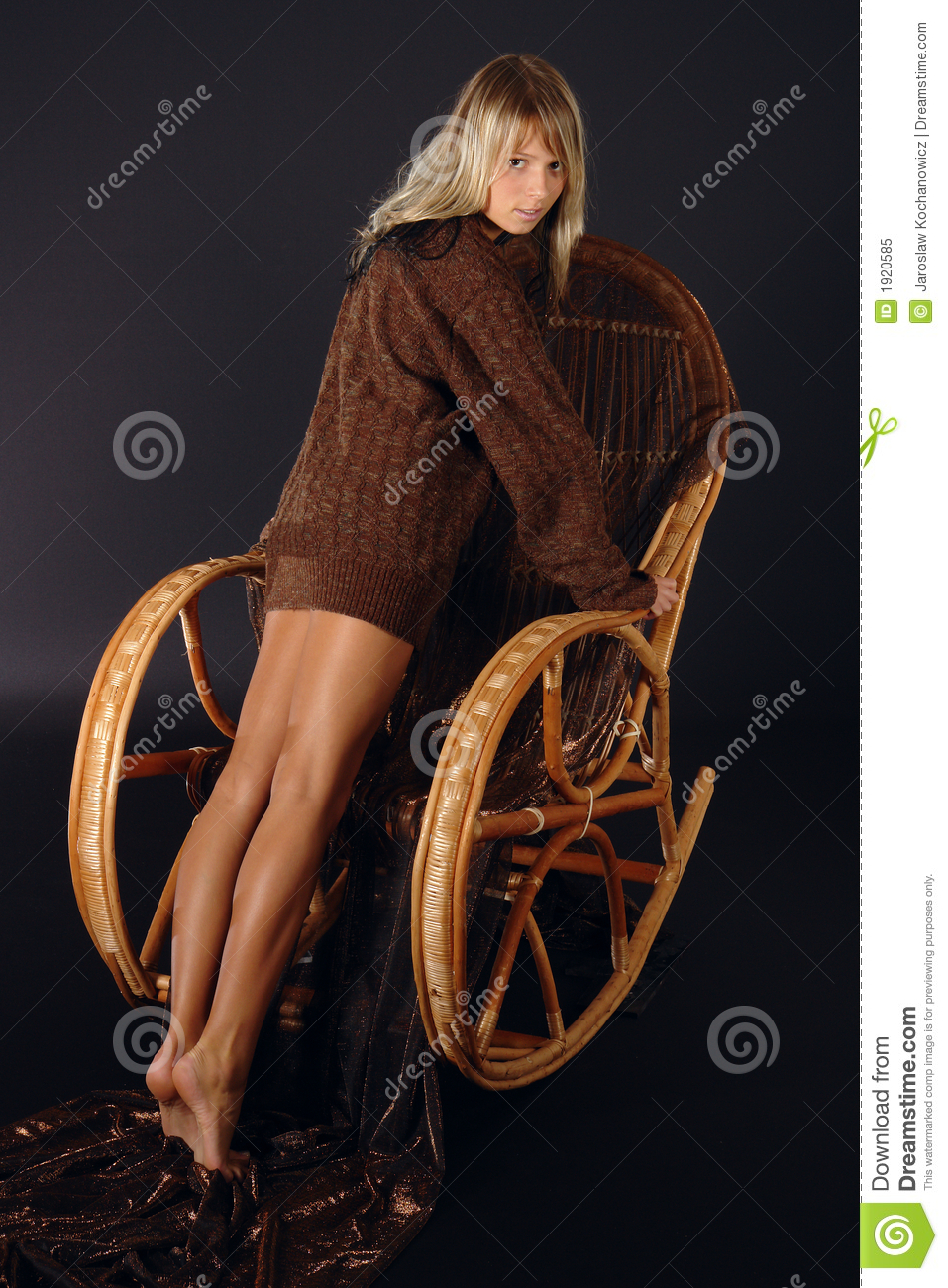 Girl At The Rocking Chair Stock Image Image Of Expression