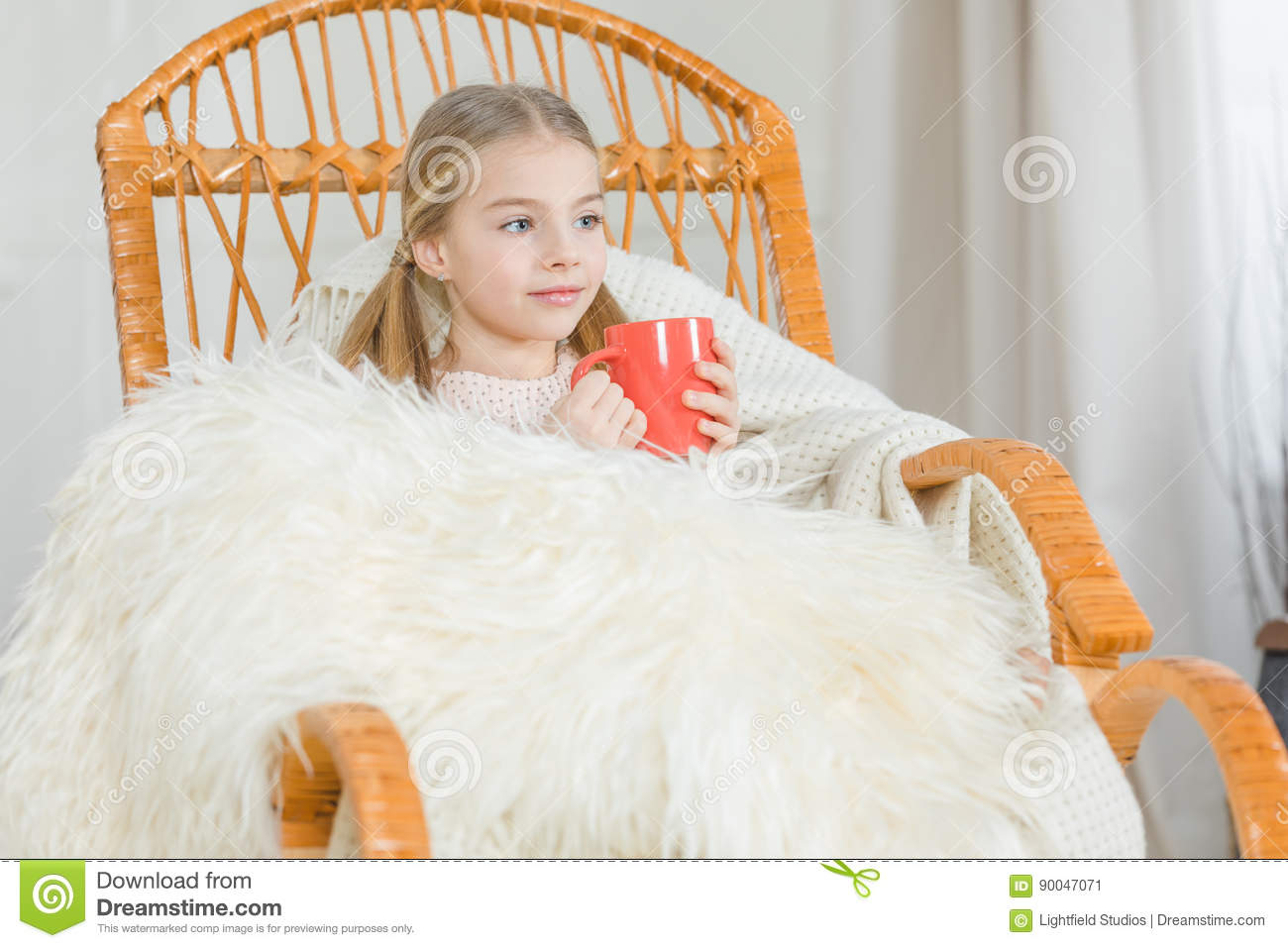 Super Girl In Rocking Chair Stock Image Image Of Cute Innocent Ncnpc Chair Design For Home Ncnpcorg