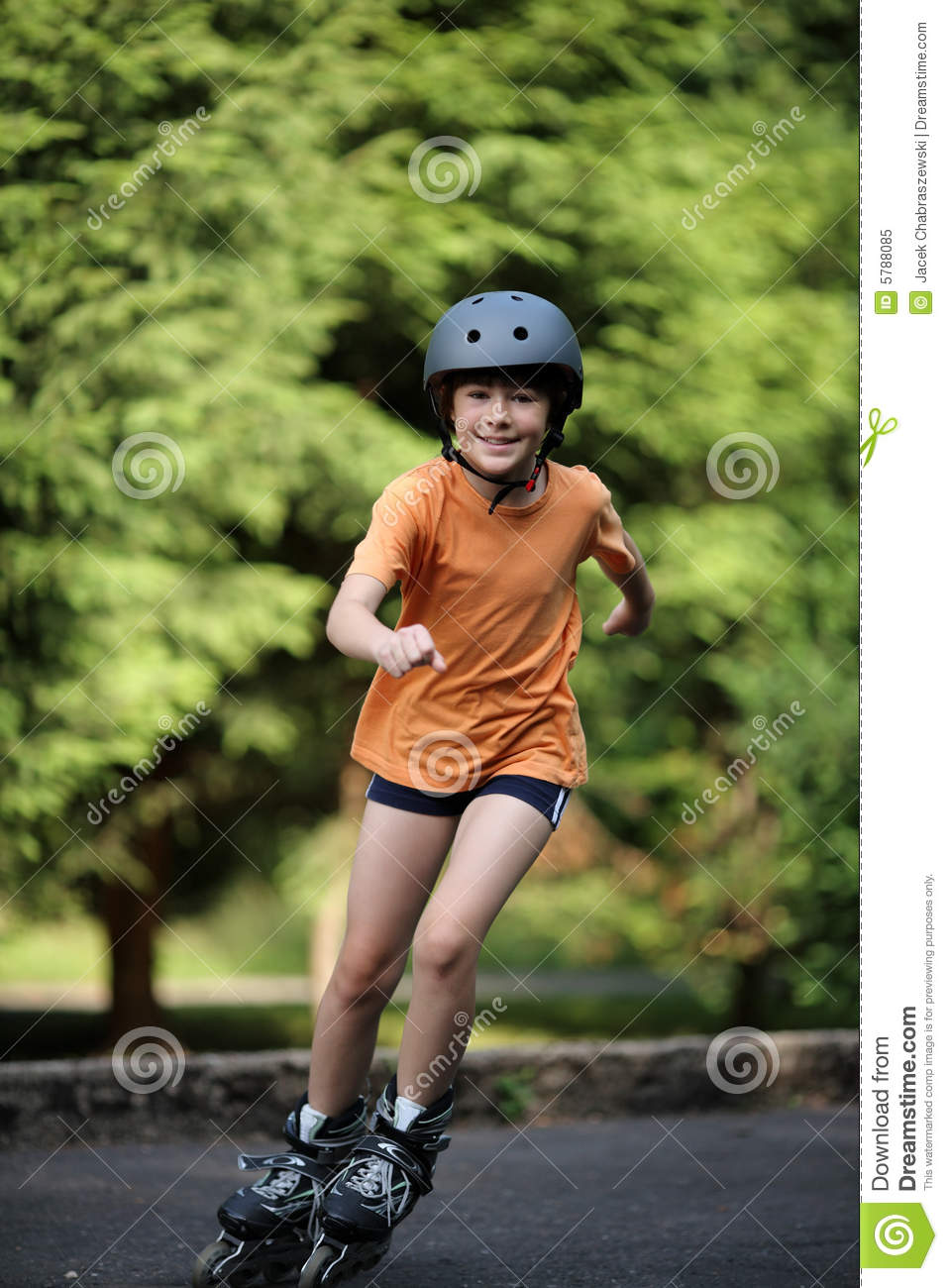 Girl on rollerblades