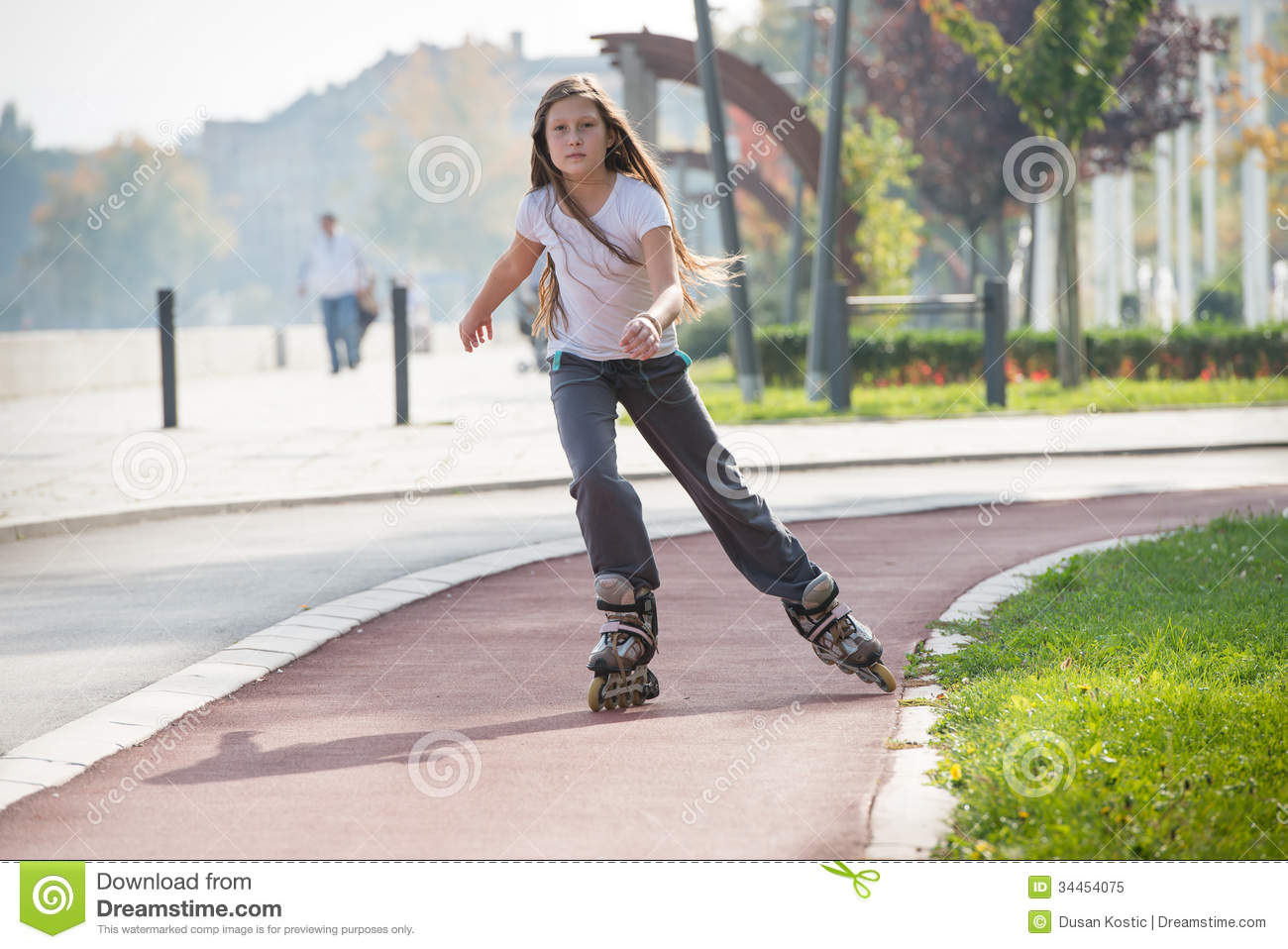 girl on the rollerblades stock image image of pretty