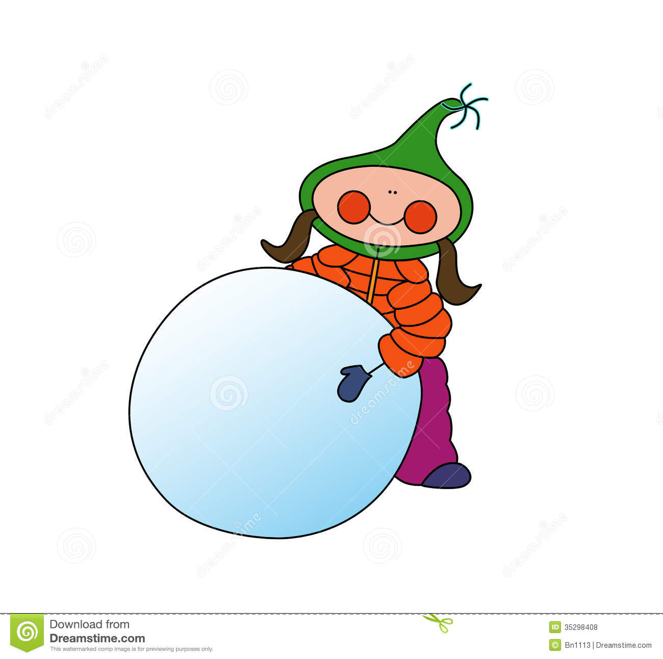girl rolling snowball stock illustration illustration of Weekly Announcements Clip Art Important Announcement Clip Art