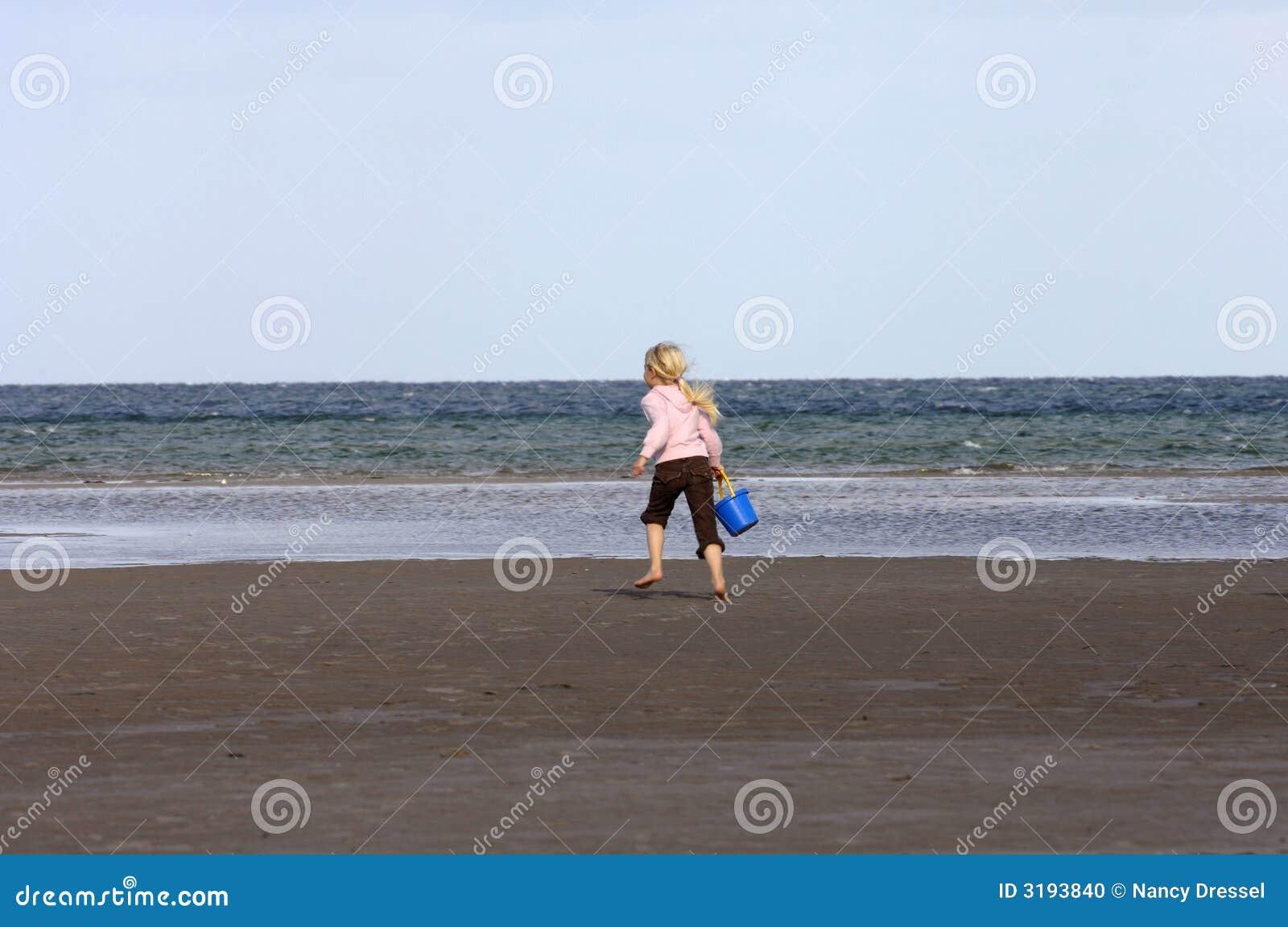 Girl Running On Beach Stock Photo - Image: 3193840 Girl Running On Beach