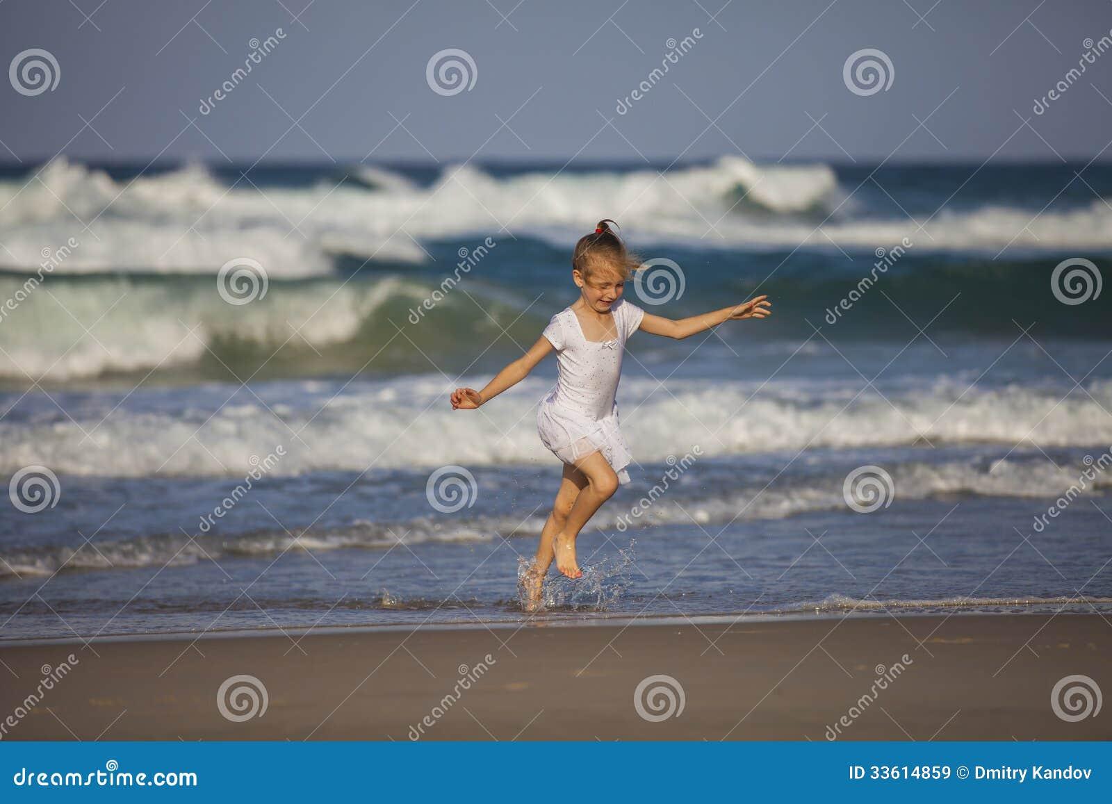 Girl Running On The Beach Royalty Free Stock Images ... Girl Running On Beach