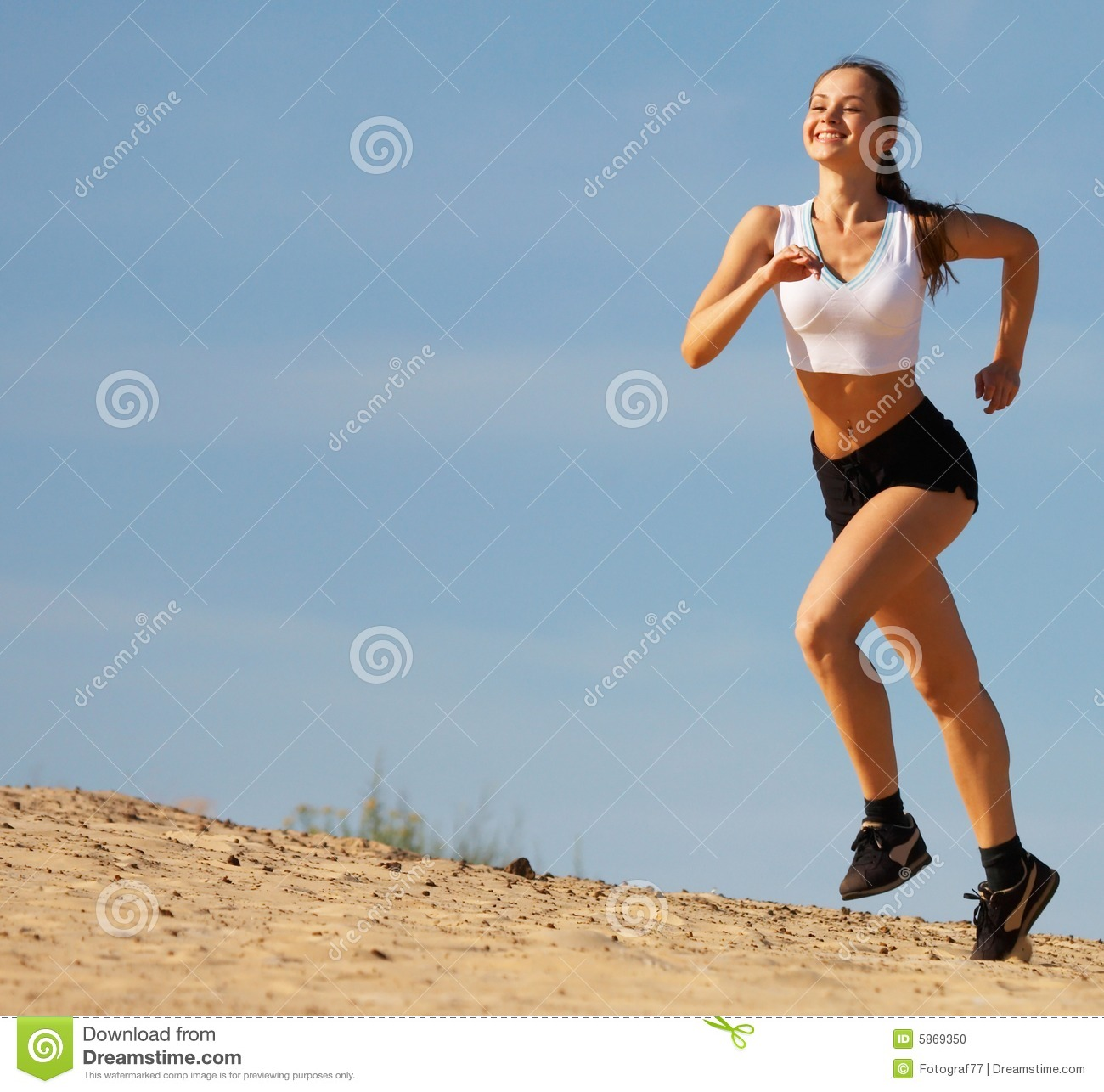 girl running on sand stock photo image of girl vigorous 5869350