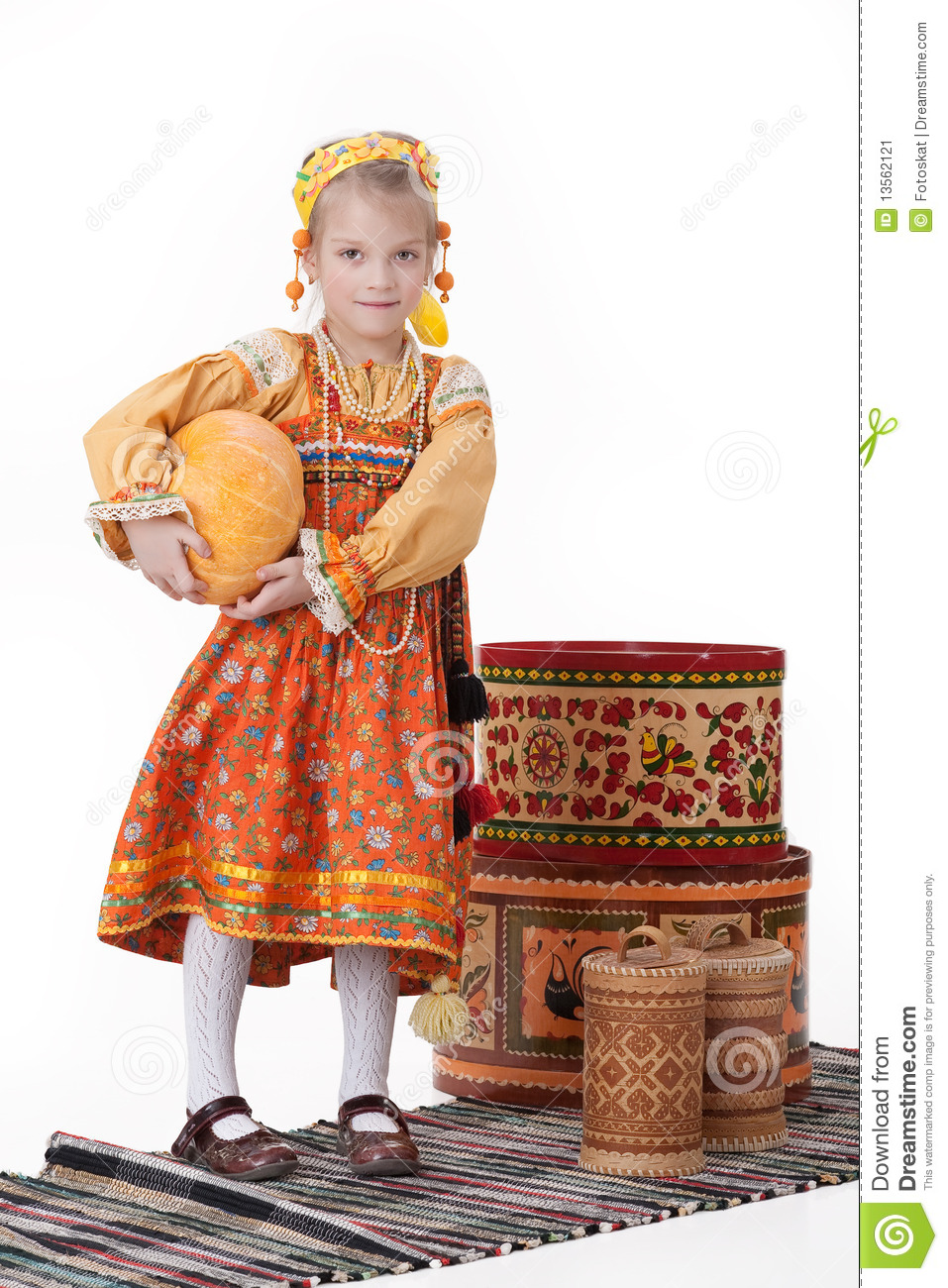 girl in russian traditional clothing stock image image  girl in russian traditional clothing