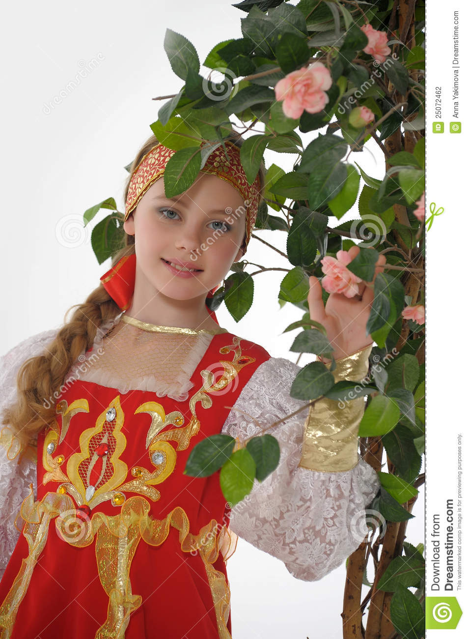 girl in russian traditional clothing stock photography image girl in russian traditional clothing