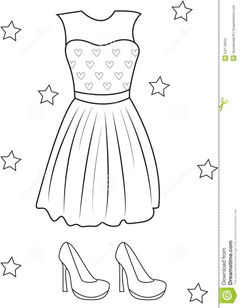 Coloring pages girls dresses for Dress coloring pages for girls