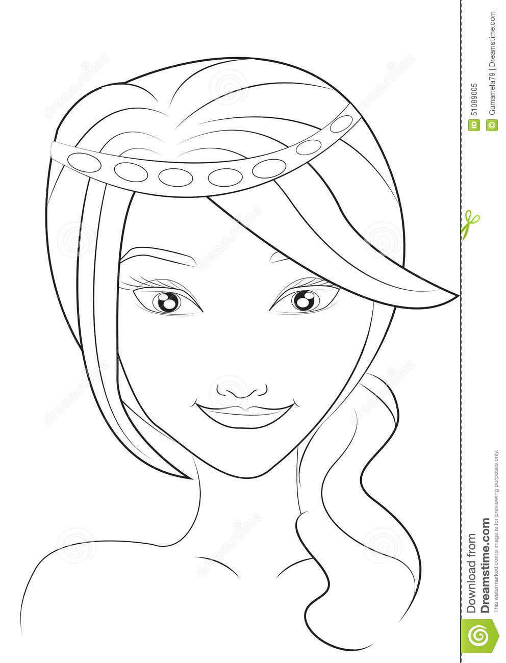 girl face coloring pages - photo#24