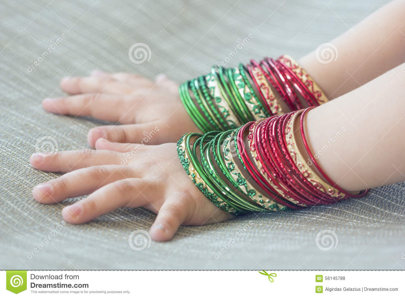 Girl\'s Hands With Bracelets Stock Photo - Image of elegance ...