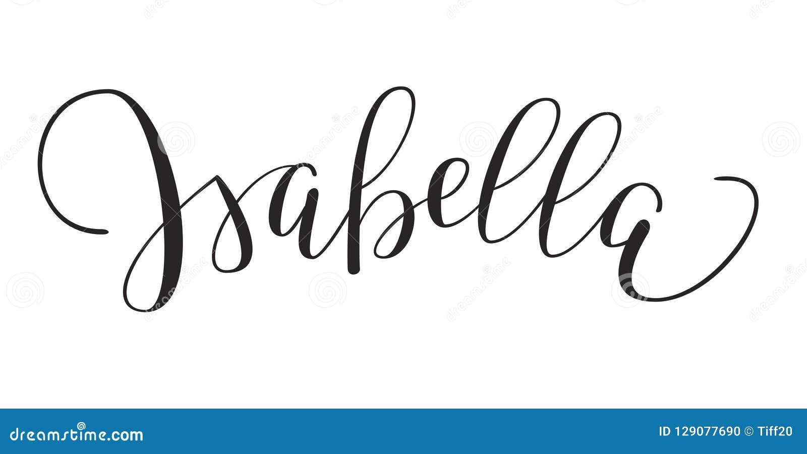 Girls Name Isabella Stock Vector Illustration Of Design 129077690