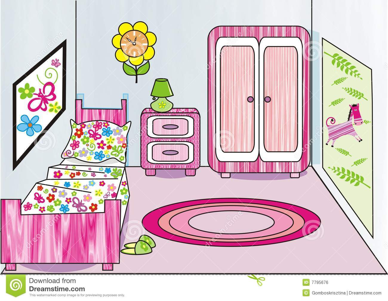 Girl's Room Royalty Free Stock Image - Image: 7795676