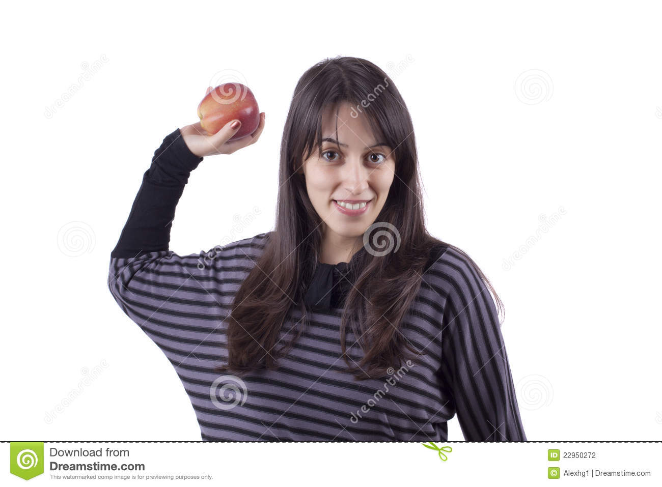 Girl's Throwing An Apple Stock Photography - Image: 22950272
