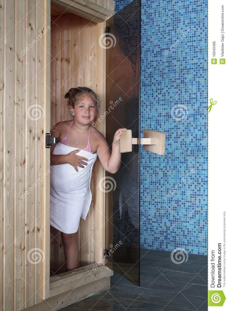 girl by the sauna stock image  image of care  enjoy  health