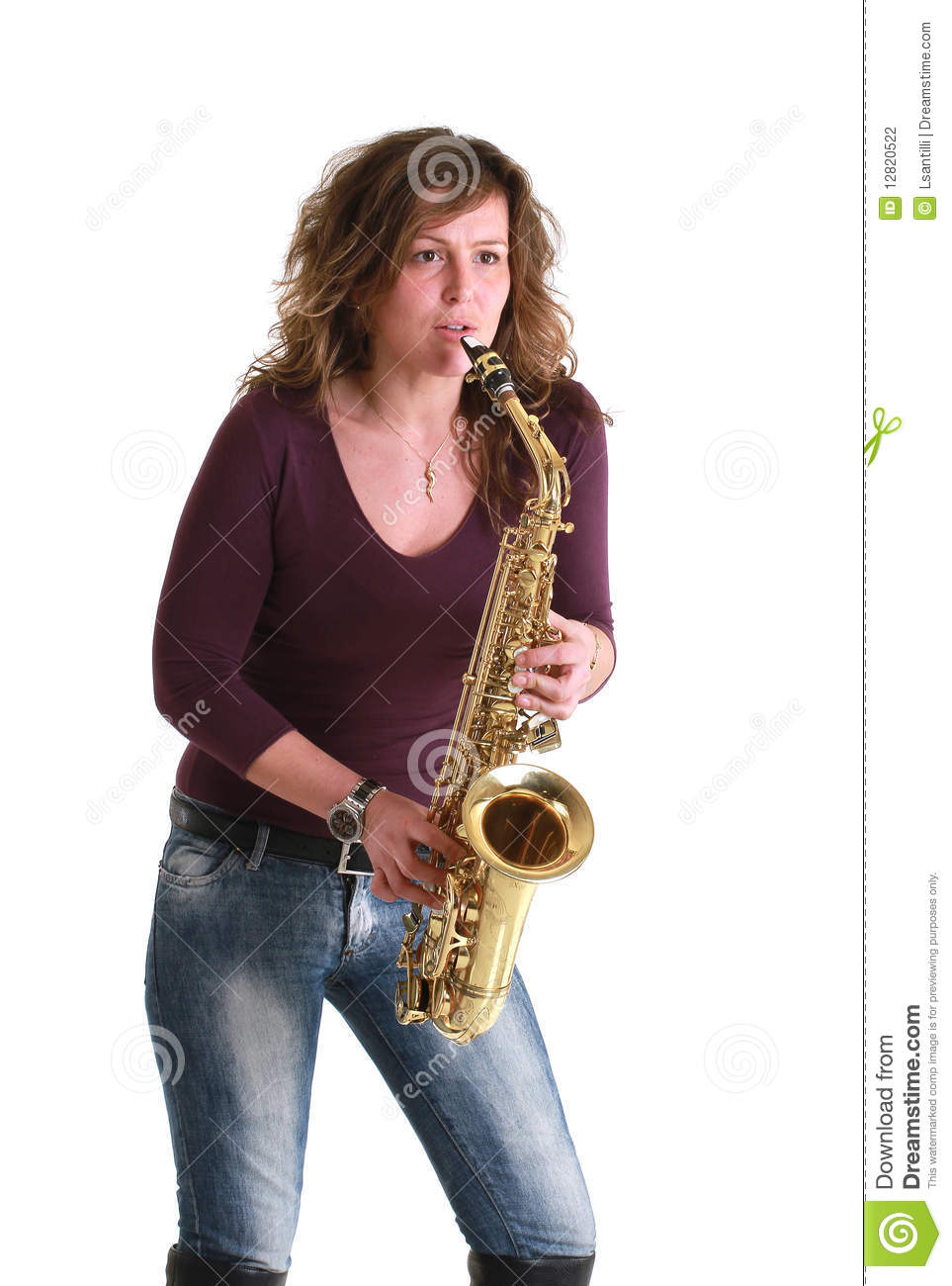 Girl With Sax Stock Photo Image Of Elegant, Girl, Lady -5879