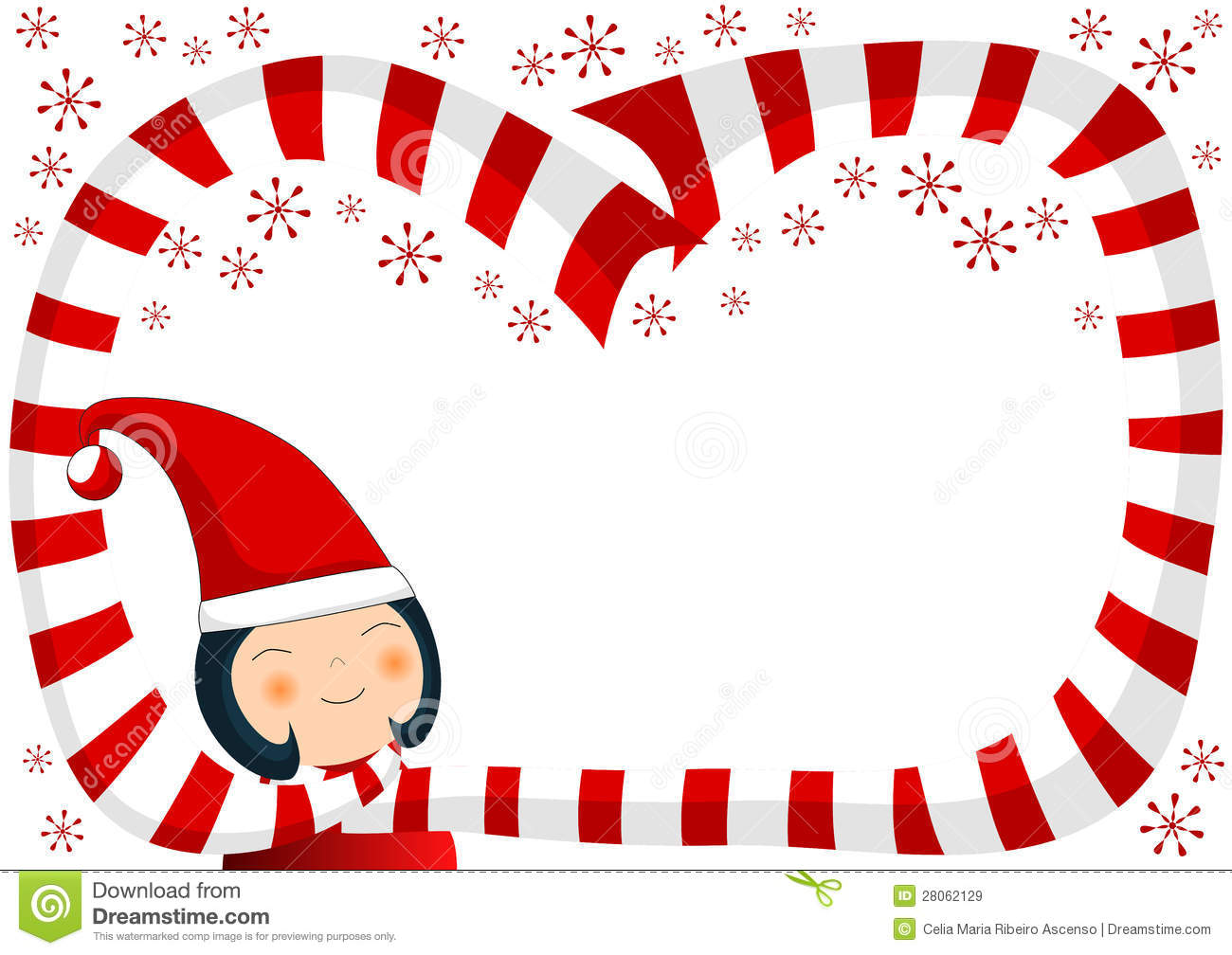 Royalty Free Stock Images: Girl with Scarf and Snowflakes Christmas ...