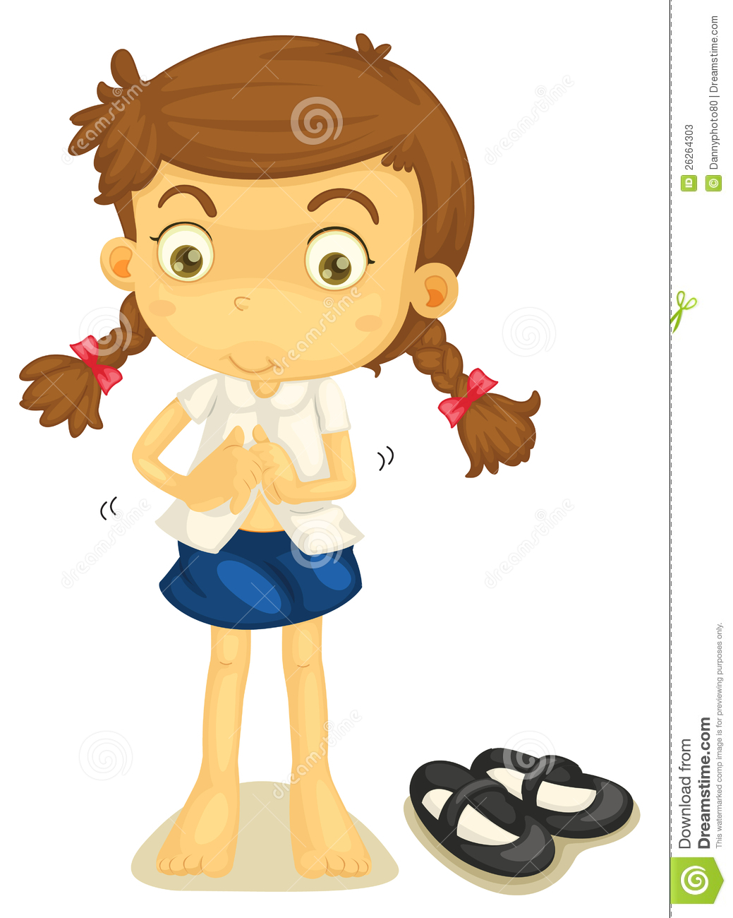 a girl in school uniform stock vector illustration of girl getting dressed clipart child getting dressed clipart