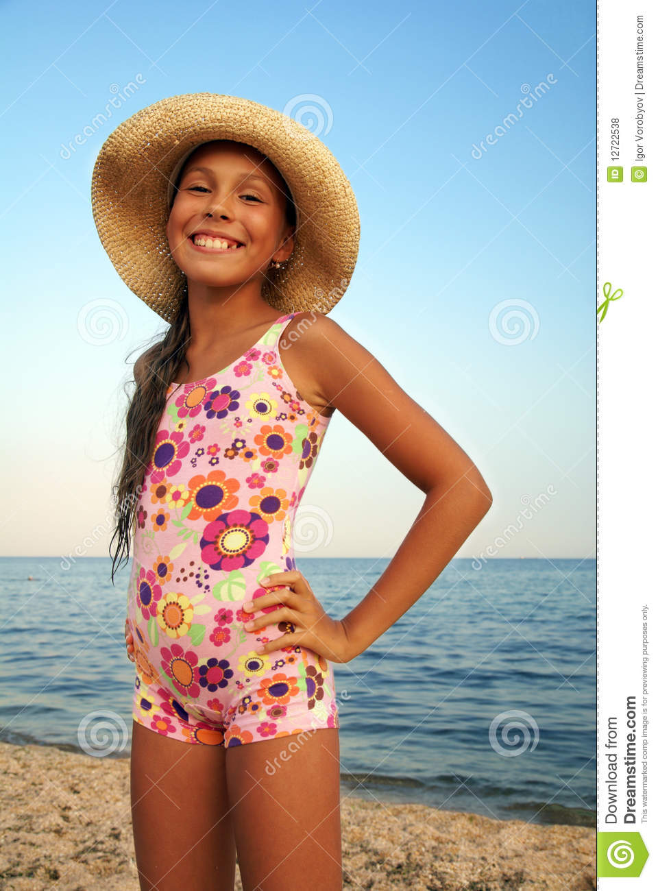 Beach model Young teen