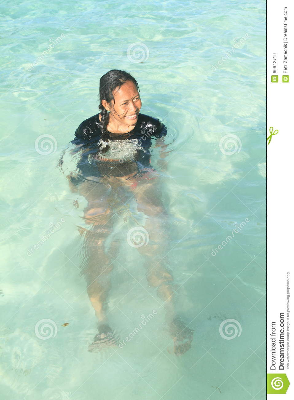 Girl In Sea Stock Image Image Of Enjoy Pool Funny 66642719