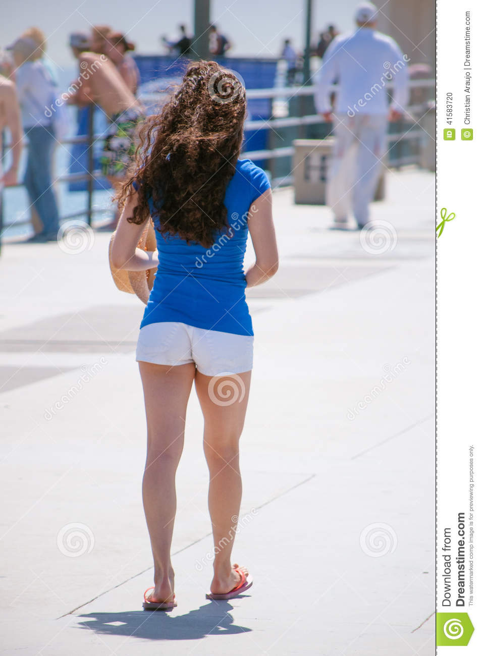 Girl In Shorts Stock Photo - Image: 41583720
