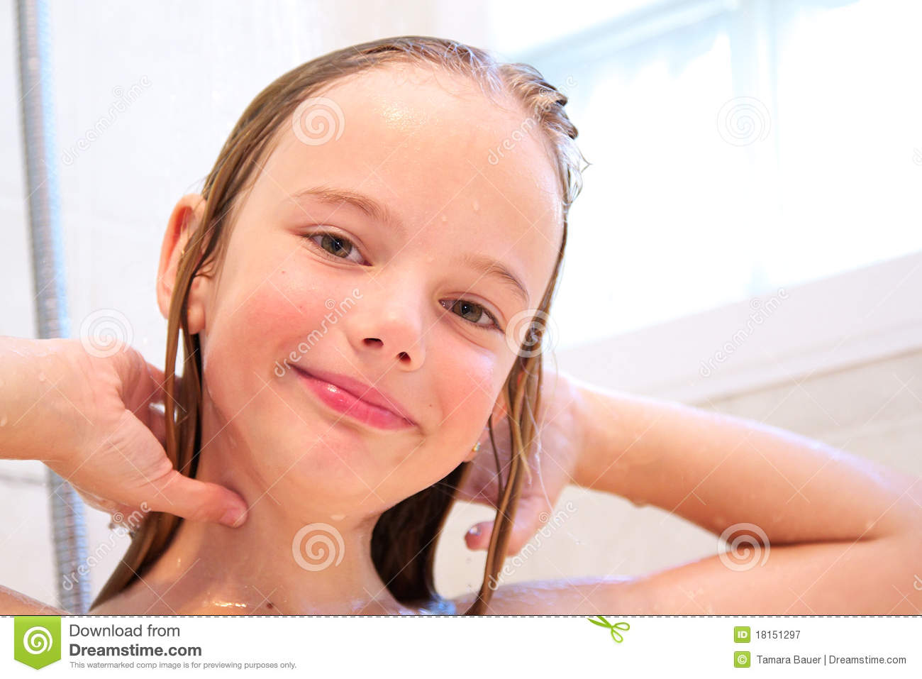Royalty Free Stock Graphy Girl In Shower