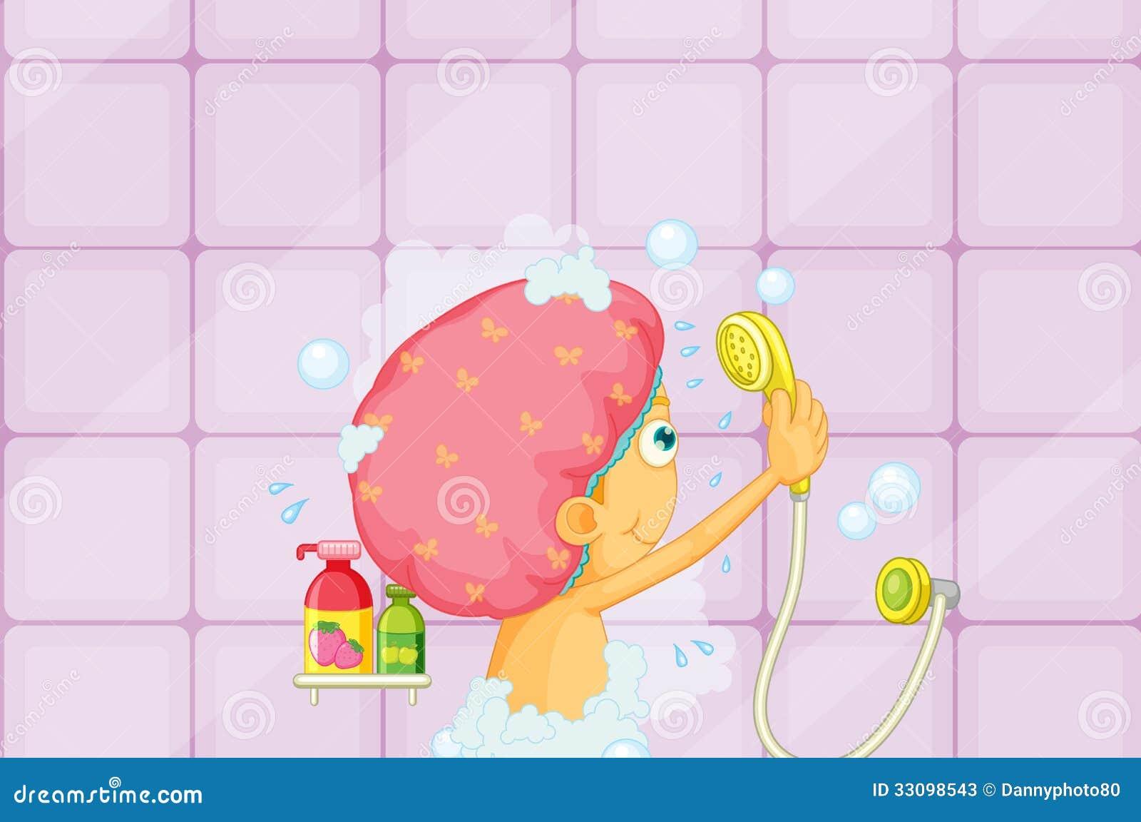 Girl showering stock photos image 33098543