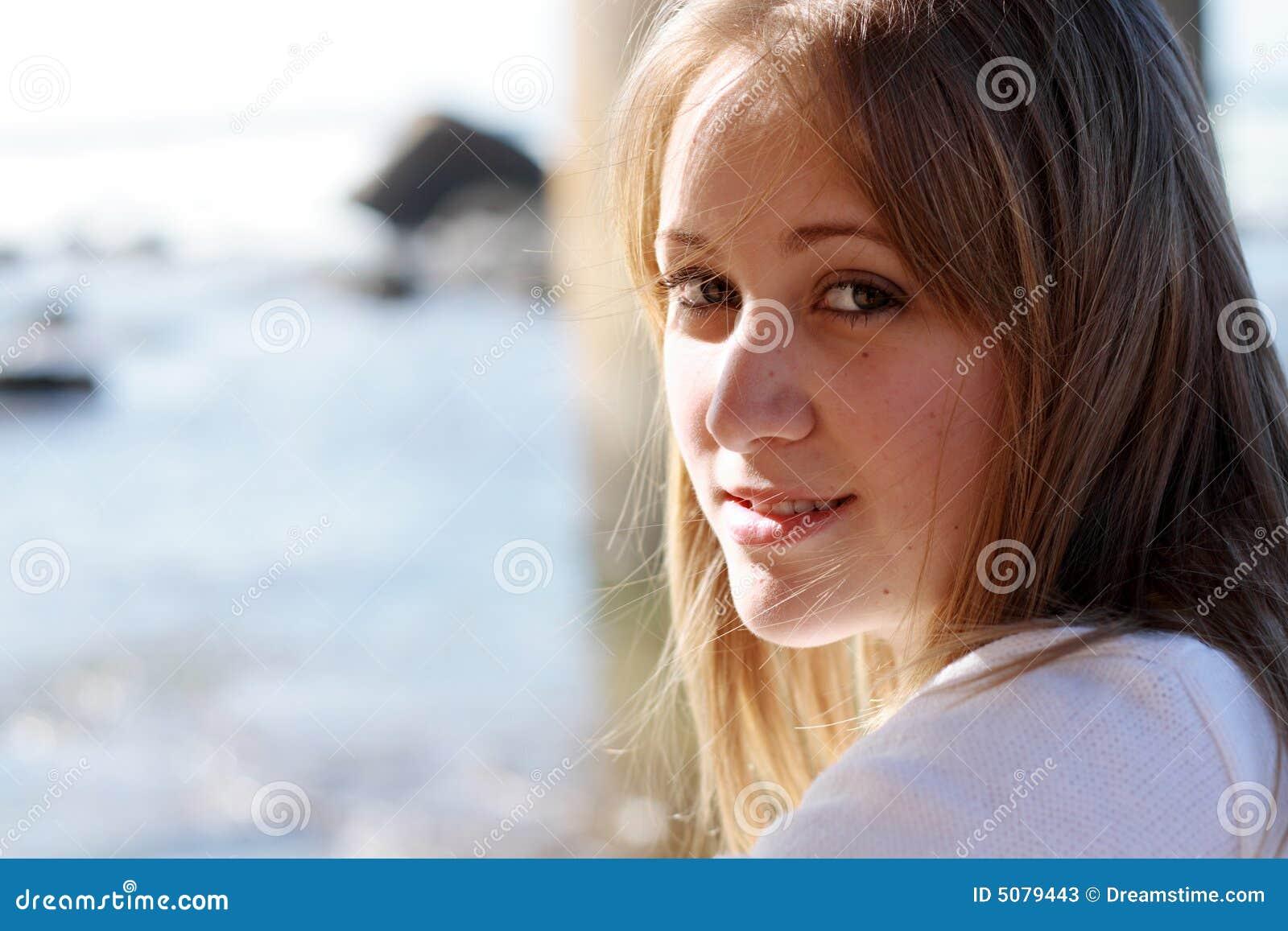 Girl Side Profile Stock Image Image Of Eyes Breast