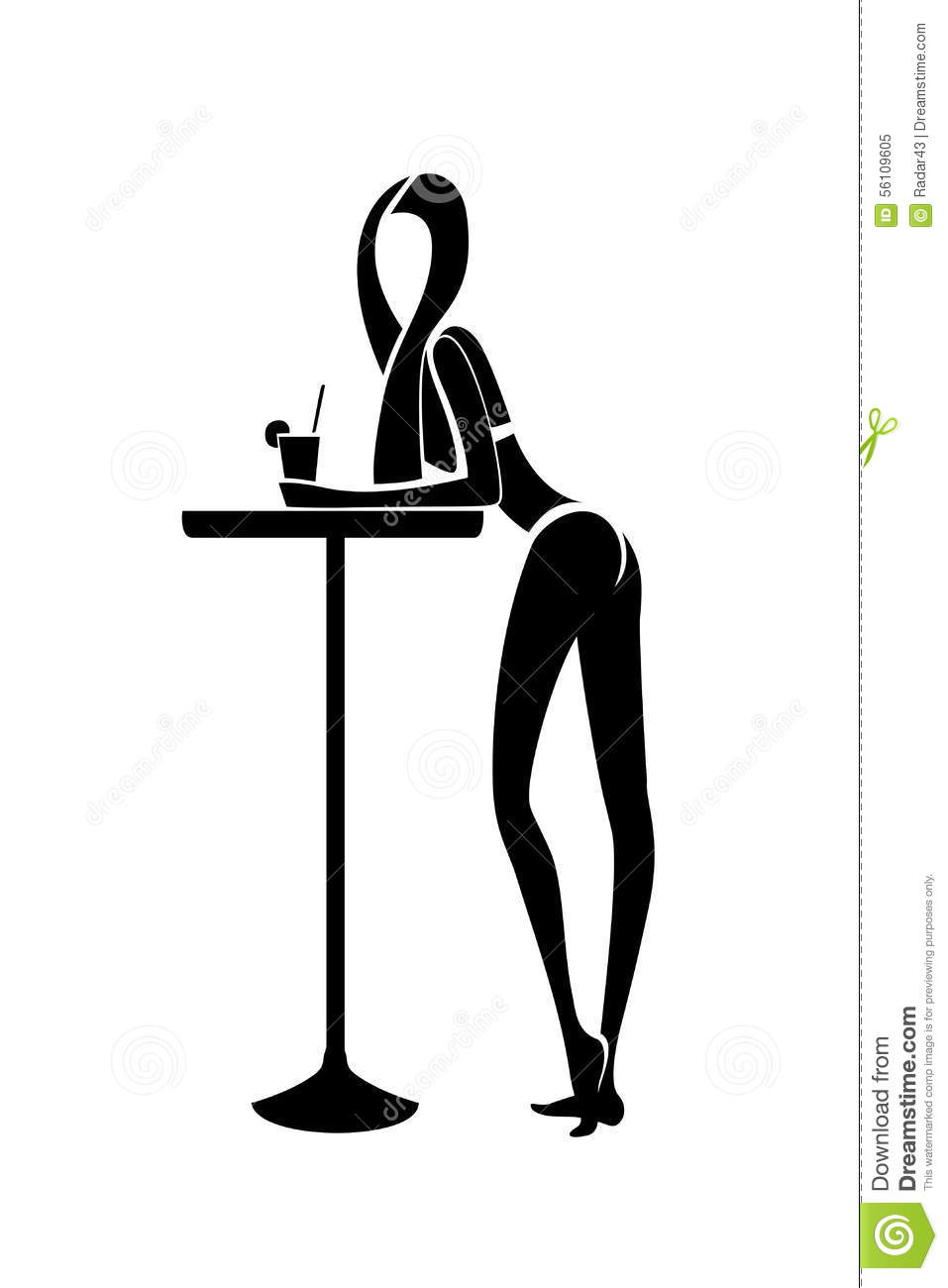 girl in cocktail