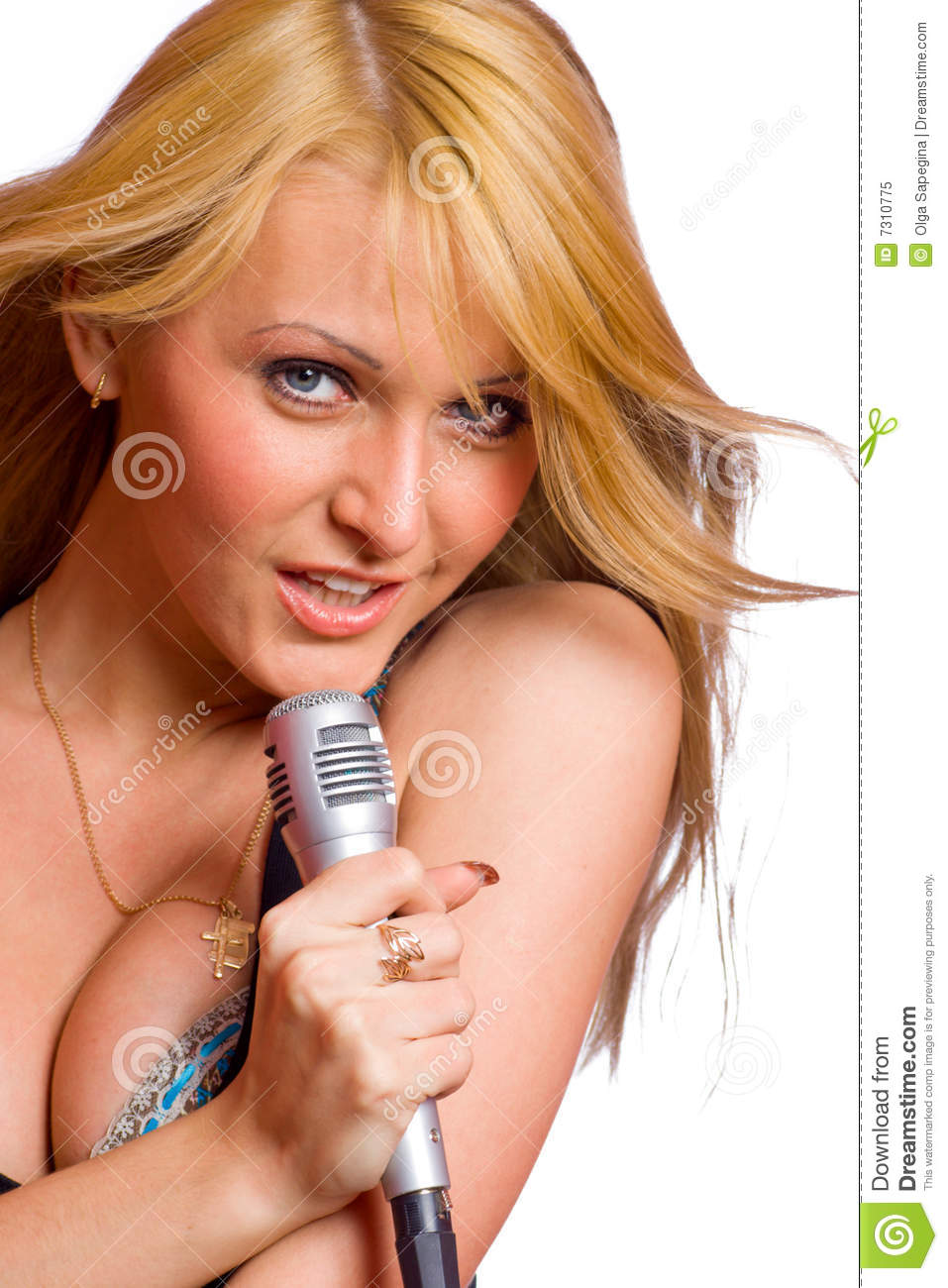 Girl Singing Royalty Free Stock Photo - Image: 7310775