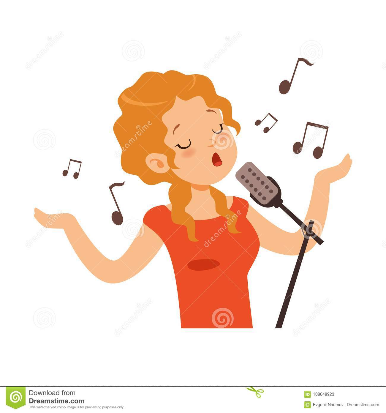 Singing Cartoons, Illustrations & Vector Stock Images