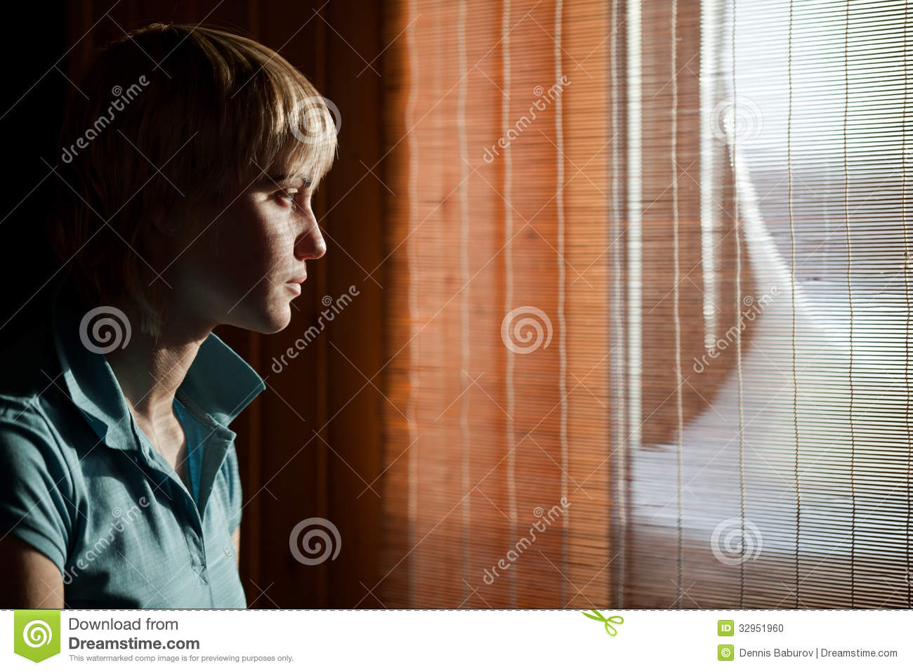 Girl Sitting Against A Window Stock Photo Image 32951960