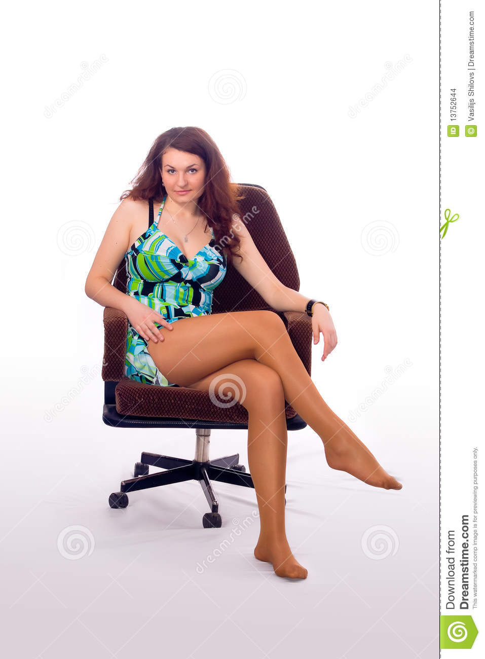 Girl sitting in an armchair stock images image 13752644 for Sitting in armchair