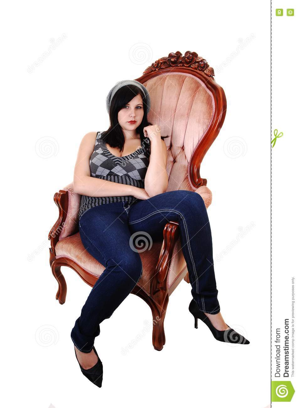 Girl sitting in armchair royalty free stock photo image for Sitting in armchair