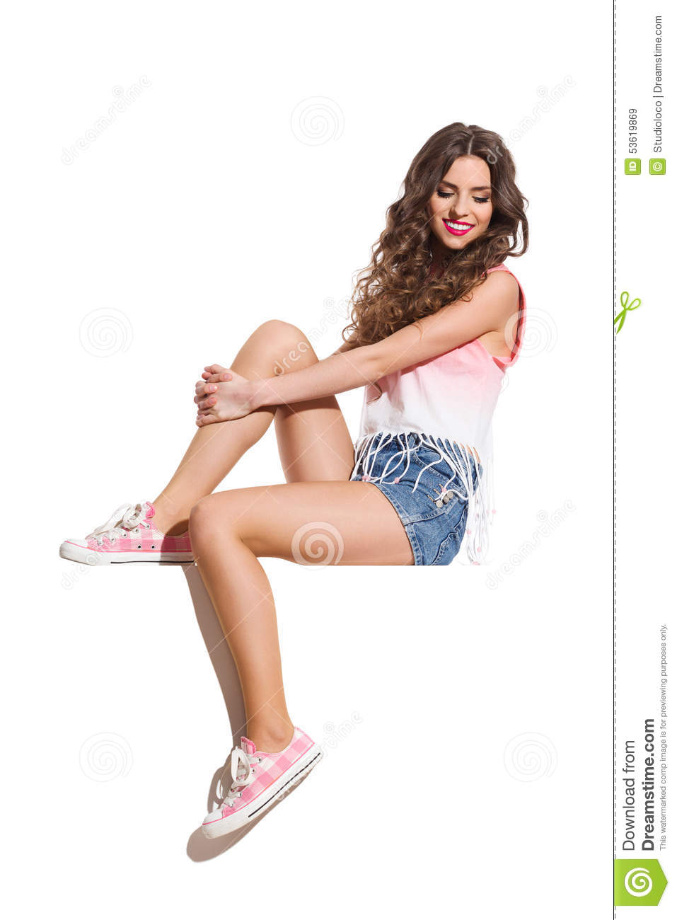 Sexy girl in sneakers